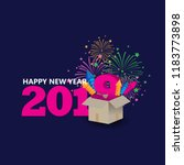 happy new year 2019 creative... | Shutterstock .eps vector #1183773898