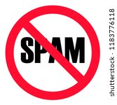 no spam sign on white... | Shutterstock .eps vector #1183776118