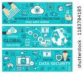 internet payment transaction ... | Shutterstock .eps vector #1183784185