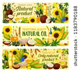 natural cooking oils of... | Shutterstock .eps vector #1183790188