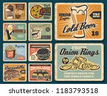 fast food snacks and meals.... | Shutterstock .eps vector #1183793518