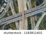 the curve of suspension bridge  ...   Shutterstock . vector #1183811602