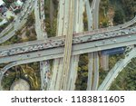 the curve of suspension bridge  ...   Shutterstock . vector #1183811605