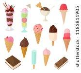 ice cream vector illustration... | Shutterstock .eps vector #1183811905