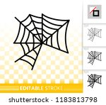 spider web thin line icon.... | Shutterstock .eps vector #1183813798