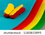 crafts made of felt in the form ... | Shutterstock . vector #1183815895