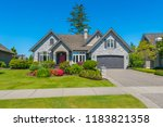 big custom made luxury house... | Shutterstock . vector #1183821358