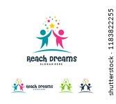 reaching star logo    online... | Shutterstock .eps vector #1183822255
