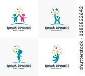set of reaching star logo   ... | Shutterstock .eps vector #1183822642