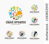 set of abstract circle child... | Shutterstock .eps vector #1183823545