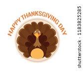 happy thanksgiving day | Shutterstock .eps vector #1183825285