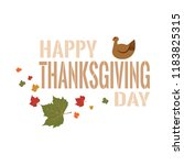 happy thanksgiving day | Shutterstock .eps vector #1183825315