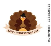 happy thanksgiving day | Shutterstock .eps vector #1183825318