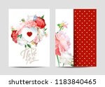 a picturesque peony flower.... | Shutterstock .eps vector #1183840465