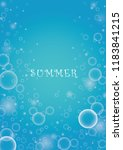 bubble in water vector on blue...   Shutterstock .eps vector #1183841215