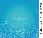 bubble in water vector on blue... | Shutterstock .eps vector #1183841248