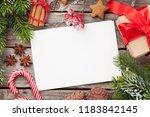 christmas greeting card  decor...   Shutterstock . vector #1183842145