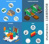 textile industry isometric... | Shutterstock .eps vector #1183850458