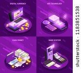 payment methods isometric... | Shutterstock .eps vector #1183851538