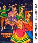 vector design of indian couple... | Shutterstock .eps vector #1183864165