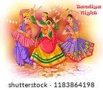 vector design of indian couple... | Shutterstock .eps vector #1183864198