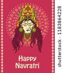 vector design of goddess durga... | Shutterstock .eps vector #1183864228