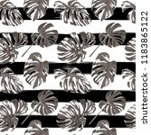 tropical print. jungle seamless ... | Shutterstock .eps vector #1183865122