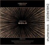 blush gold rays element.... | Shutterstock .eps vector #1183865842