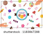 flat sweet products concept... | Shutterstock .eps vector #1183867288
