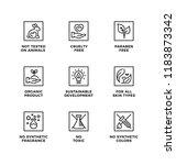vector set of design elements ... | Shutterstock .eps vector #1183873342