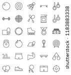 thin line vector icon set  ... | Shutterstock .eps vector #1183883338