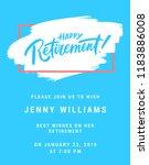 happy retirement. party... | Shutterstock .eps vector #1183886008