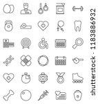 thin line vector icon set   egg ... | Shutterstock .eps vector #1183886932