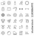 thin line vector icon set  ... | Shutterstock .eps vector #1183886995