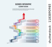 infographics business template... | Shutterstock .eps vector #1183890985