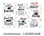 pregnancy quote set. vector... | Shutterstock .eps vector #1183891408