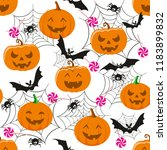 halloween holiday  seamless... | Shutterstock .eps vector #1183899832