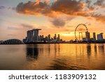 singapore singapore  february... | Shutterstock . vector #1183909132