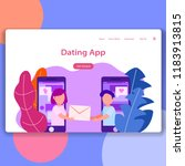 dating app landing page ui...