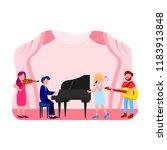 music concert illustration flat ...   Shutterstock .eps vector #1183913848