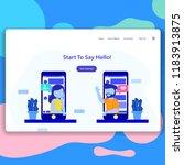 chatting app  date social app... | Shutterstock .eps vector #1183913875