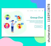 group chat landing page...   Shutterstock .eps vector #1183913878