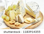 cheese  grapes and wine   still ... | Shutterstock . vector #1183914355
