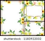 invitation greeting card with... | Shutterstock . vector #1183922032