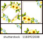 invitation greeting card with... | Shutterstock . vector #1183922038