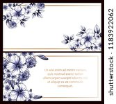 invitation greeting card with... | Shutterstock . vector #1183922062