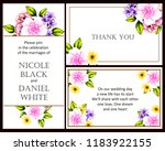 invitation greeting card with... | Shutterstock . vector #1183922155