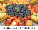 fruit cut on a holiday | Shutterstock . vector #1183933195