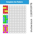 complete the pattern. education ... | Shutterstock .eps vector #1183933978
