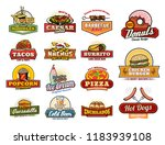 fast food icons of fastfood... | Shutterstock .eps vector #1183939108